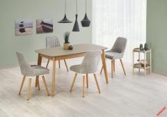 Обеденный стол ONTARIO Halmar 150-190-90-76 cm Серый