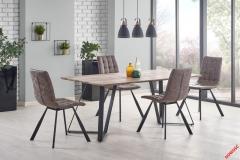 Обеденный стол CALGARY Halmar 180-90-76 cm Орех-Черный