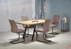 Обеденный стол CAPITAL Halmar 160-200-90-76 cm Дуб Золотой-Черный