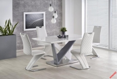 Обеденный стол CORTEZ Halmar 160-90-76 cm Белый-Серый