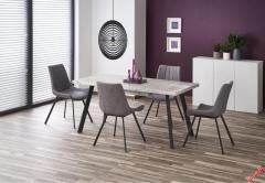 Обеденный стол DALLAS Halmar 160-220-90-76 cm Мрамор-Черный