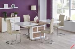 Обеденный стол DOMUS Halmar 160-220-90-76 cm Белый-Дуб Сан Ремо