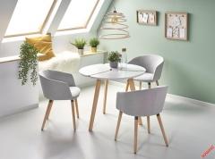 Обеденный стол EXPRESS Halmar 90-76 cm Белый-Бук