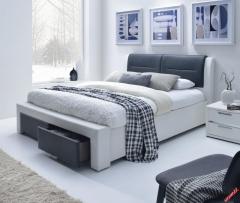 Кровать Halmar Cassandra S 140 бело-черная