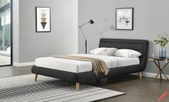 Кровать Halmar ELANDA 160 темно серый