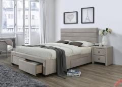 Кровать  с ящиками HALMAR KAYLEON бежевый