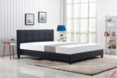 Кровать Halmar OXFORD 160 темно-серый