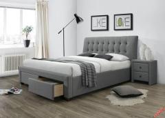 Кровать Halmar PERCY 160-200 серый