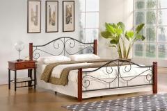 Двуспальная кровать Halmar Violetta 160-200 Antique Cherry Білий