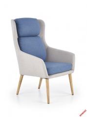 Кресло PURIO Halmar светло-серое синий