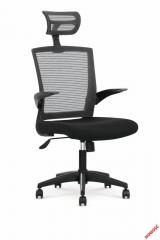 Кресло Halmar VALOR черный-серый