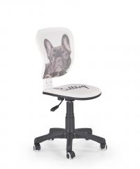 Кресло FLYER bulldog Halmar Белый Черный
