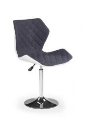 Барный стул MATRIX 2 HALMAR Бело-серый