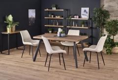 Обеденный стол раскладной Halmar BERLIN 140-180-85-76 орех-черный