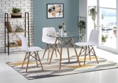 Стеклянный стол обеденный BERUS HALMAR 80 см