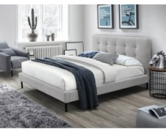 Кровать Signal Sally 160х200 серый черный