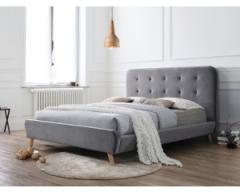 Кровать Signal Tiffany Velvet 160х200 серый дуб