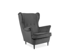 Кресло Signal Lord темно-серый (Orinoco 1618) венге