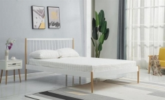 Новинка!Кровать Halmar LEMI 120 белый натуральный