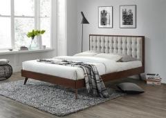 Новинка!Кровать Halmar SOLOMO 160 бежевый орех