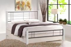 Новинка!Кровать Halmar VIERA 160 белый черный
