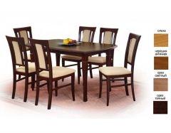 Деревянный стол Fryderyk 160-200 орех тёмный